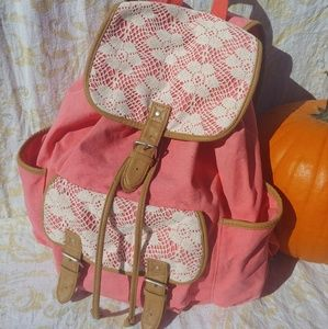 PINK AND LACE AEROPOSTALE BACKPACK